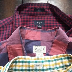 Lot of 3 J. Crew Long Sleeve Button Down Plaid
